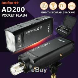 Us Godox Ad200 Ttl Hss 1 / 8000s 200w Speedlite Strobe Pour Canon Nikon Sony