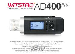 Us Godox Ad400pro 2.4g Ttl Hss Witstro All-in-one Caméra Extérieure Speedlite