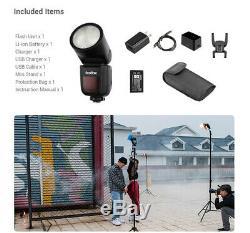 Us Godox V1-c 2.4g Sans Fil À Tête Ronde Caméra Flash Pour Canon 6d 7d 50d 60d 500d