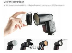 Us Godox V1-c Ttl Round Head 2.4g Wireless Hss 1/8000s Caméra Flash Pour Canon