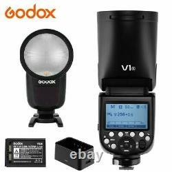 Us Godox V1-n Ttl Hss Round Head Camera Flash 2.4g Wireless Speedlite Pour Nikon