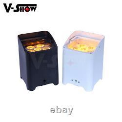 V-show 10pcs 66in1 Batterie Sans Fil Télécommande Uplights Conduit Mini Par Peut