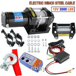 Wireless 3500lb 12v Electric Recovery Winch Truck Suv Durable Remote Control 4x4