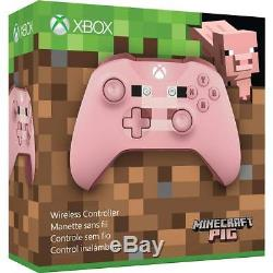 Xbox One Wireless Controller Minecraft Pig Édition Microsoft Windows 10 À Distance