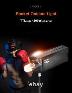 Yongnuo Yn200 Ttl Hss 200w Avec Flash Extérieur Batterie Pour Caméra Canon